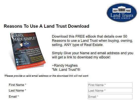 Mr Land Trust Form